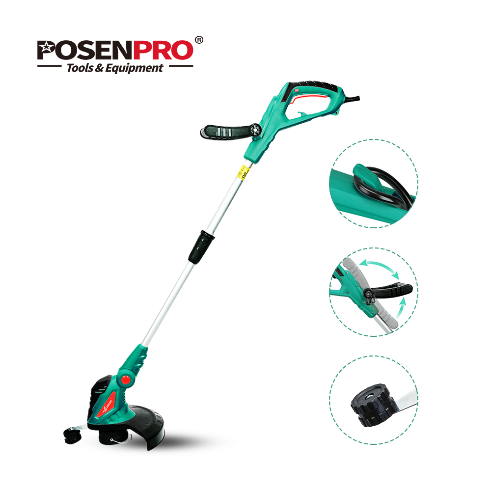 Clearance Sale 550W Lectric Grass Trimmer Cleaner Grass Cutter Machine Line Trimmer Ajustable Shaft Rotation Tube Garden Tool