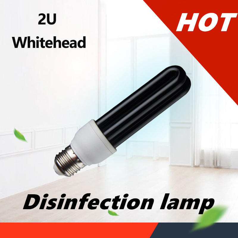 26/40/60W E27 Ultraviolet UV Tube Lamp LED Light Bulb Efficient BlackLight Disinfection Ozone Sterilization Mites Germicidal