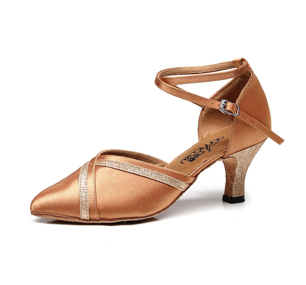 2020 Coupon Hot Salsa Jazz Ballroom Latin Dance Shoes For Dancing Women Chinese Waltz With Heels Pumps 6133 Schoenen Beige Pumps