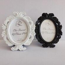 Marco de fotos de estilo Vintage, marco de fotos de escritorio de boda, marco de fotos de resina para decoración del hogar de sala de estar, regalo Popular