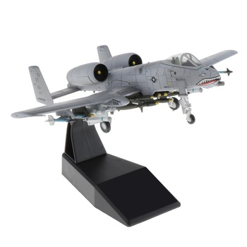 1:100 A-10 Attack Plane Fighter Attack Plane Display Model - Metal Mini Military Aircraft with Stand 1
