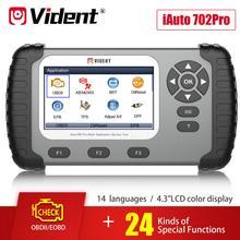 Инструмент для сканирования VIDENT iAuto 702 Pro ABS/SRS с 19 основными функциями IMMO/DPF/одометром/EPB/светильник для масла Reset/TPS/BRT и т. д.