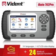 VIDENT iAuto 702 Pro ABS/SRS Scan Tool with 19 Maintenances Special Funtion IMMO/DPF/Odometer/EPB/Oil Light Reset/TPS/BRT etc.