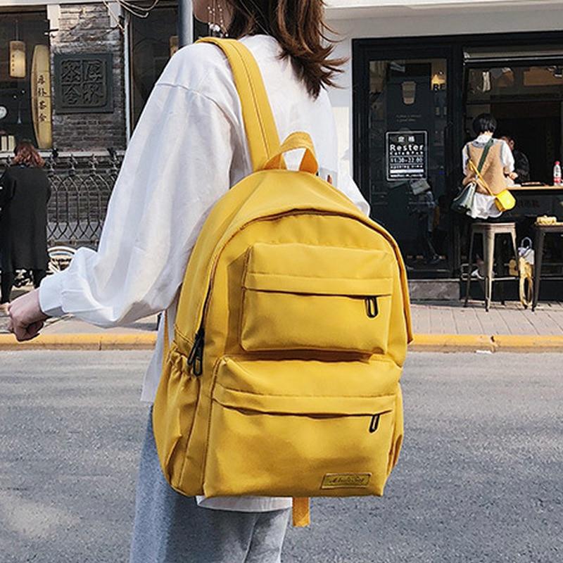 Preppy Style Student School Backpack School Bags For Girls Teenagers Oxford Back Pack Women Schoolbag Simple Solid Bookbag 2019