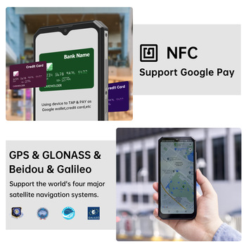 "OUKITEL K15 Plus 10000mAh NFC Smart Phone  6.52"" 3GB RAM 32GB ROM Cell Phone Quad Core Android 10 Mobile Phone MT6761 13MP 4"