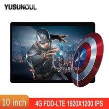 HD Version 3 + 32GB 4G LTE Google Spielen DHL Freies 10 zoll Tablet MT6753 Octa Core 1920x1200 2,5 D IPS Screen Android Tablet pc + Geschenk
