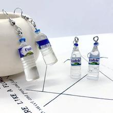 1 pair Funny Soda Water Personality Fruit Drink Bottle Women Earrings Fashion Resin Birthday Gifts Drop Dangle Earrings Jewelry pair of stylish faux gem bead water drop earrings for women