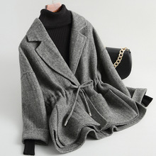 Women 19FW double-faced wool tweed blazer coat jacket