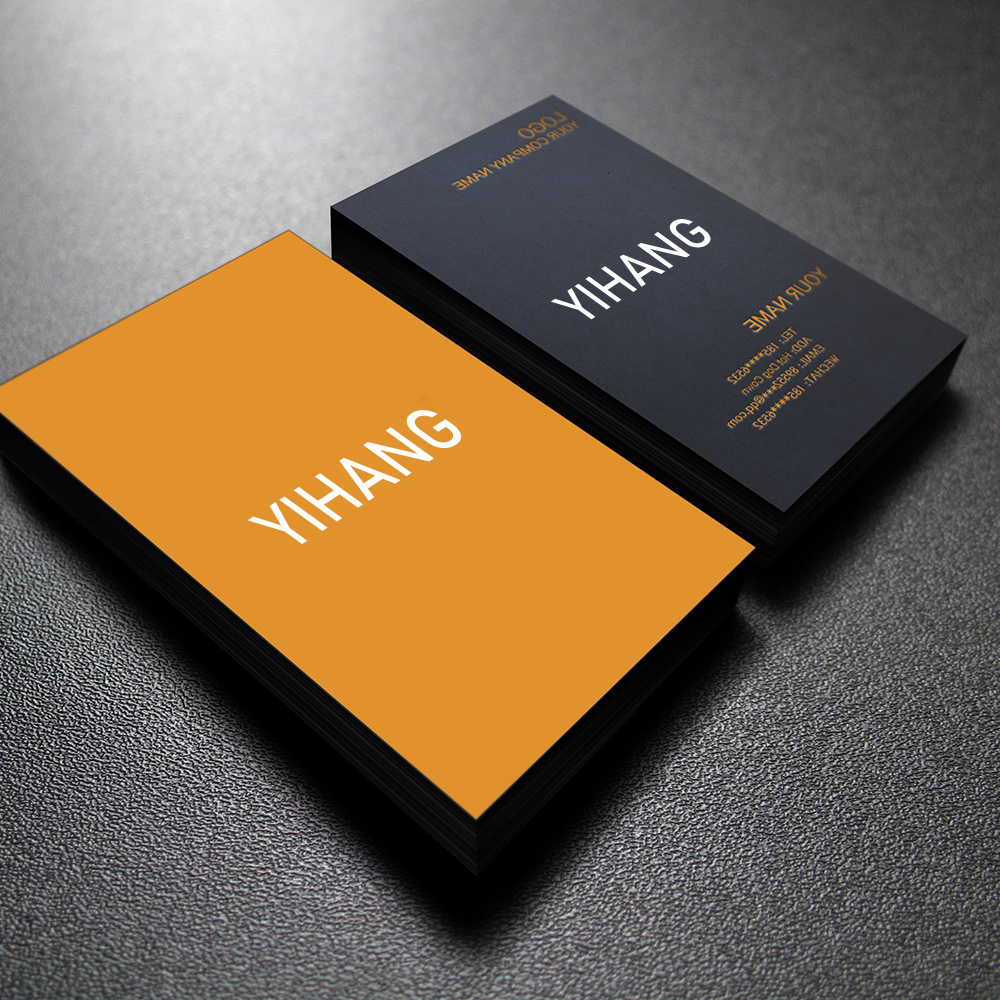 50 Free Design Customized Personal Logo Free Shipping Full Color Two-sided Printing Business Card 300gmg Paper