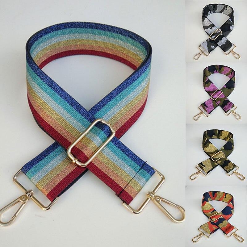 2020 New Women Adjustable Bag Belt Bag Strap Bag Handle Camouflage Shoulder Strap Fashion Colorful Contrast Replacement Belt