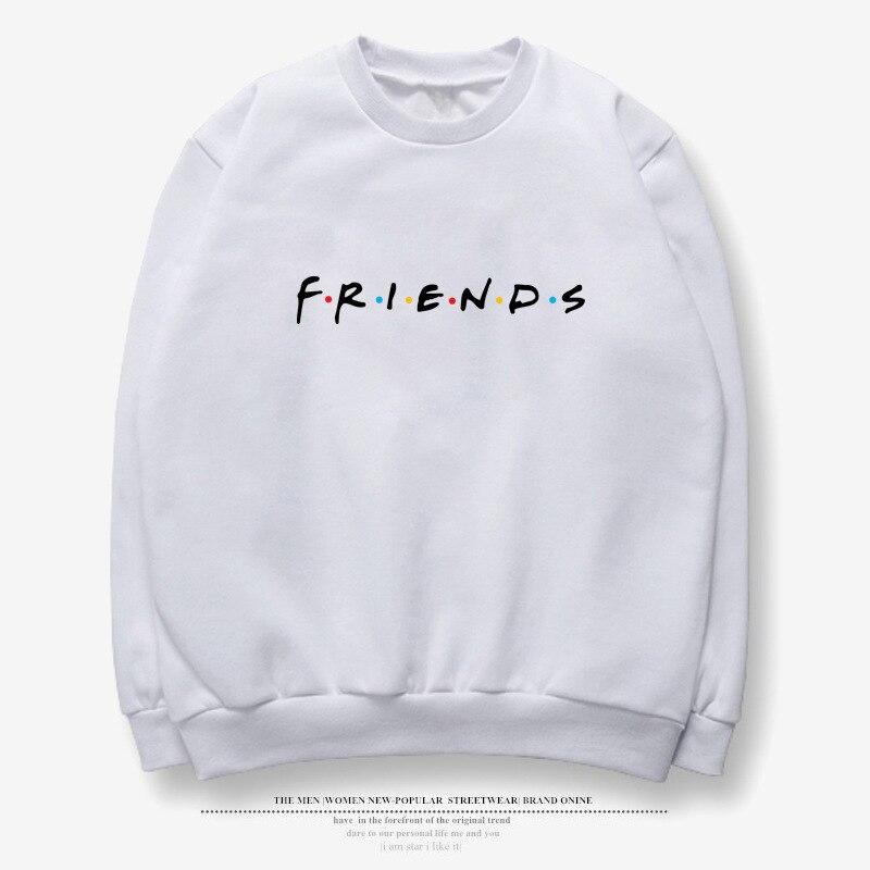 Vintage Letter Print Long Sleeve FRIENDS TV Casual Women's Sweatshirts Winter FRIENDS Print Loose Hoodies Fashion Womens Shirts 2