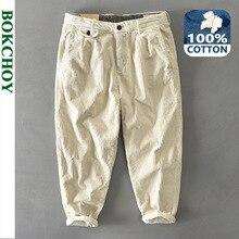 Autumn Winter New Men Cotton Corduroy Pants Solid Color Casual Safari Style GML04-Z325