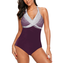 One-Piece Swimming Suit Polka Dot Gradient Womens Sexy Bikini beachwear swimwear