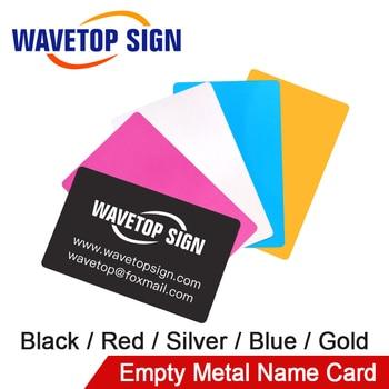 WaveTopSign 100Pcs/Lot Business Name Card Multicolor Aluminium Alloy Metal Sheet Testing Material for Laser Marking Machine