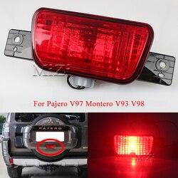 Reflector de parachoques trasero luz para Mitsubishi Pajero Shogun 2007, 2008, 2009, 2010, 2011-2015 cola parada señal de luces de freno lámpara de la niebla