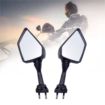 1 Pair Motorcycle Rear Side View Rearview Mirror Left Right For KAWASAKI NINJA 250R EX250 2008-2013 Black Motorcycle Mirror motorcycle left right side rear view mirror for harley suzuki kawasaki honda black chrome motorcycle accessories