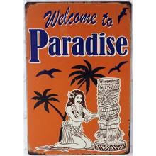 Добро пожаловать в рай Гавайи тики Тематический Бар декоративные