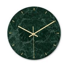 Акриловая декорация настенные часы мраморная текстура часы гостиная спальня офисное украшение беззвучный ход