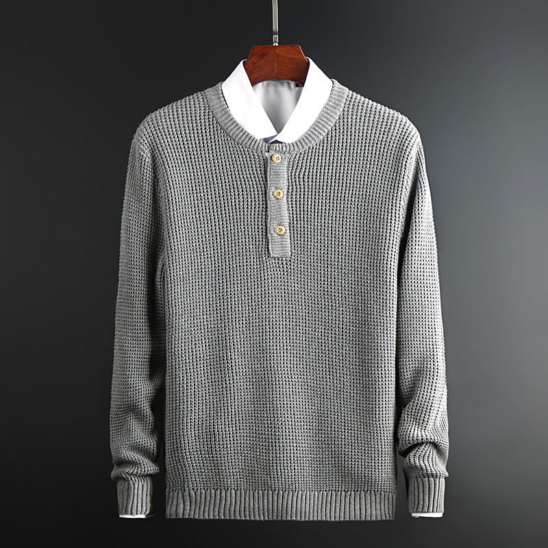 2019 New Fashion Brand Sweater Men Pullovers Top Grade Lim Fit Jumpers Knitwear Thick Autumn Korean Style Casual Clothing Male