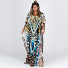 Платье женское длинное в богемном стиле Пляжная туника кафтан