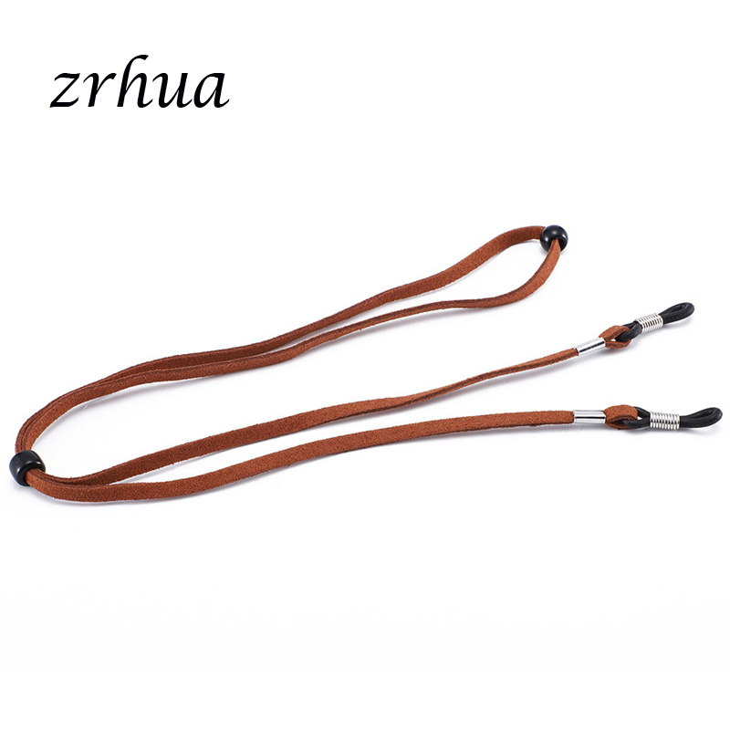 1Pc 8 Colors New Leather Eyeglass Cord Adjustable End Glasses Holder Colorful Leather Glasses Neck Strap String Rope Band