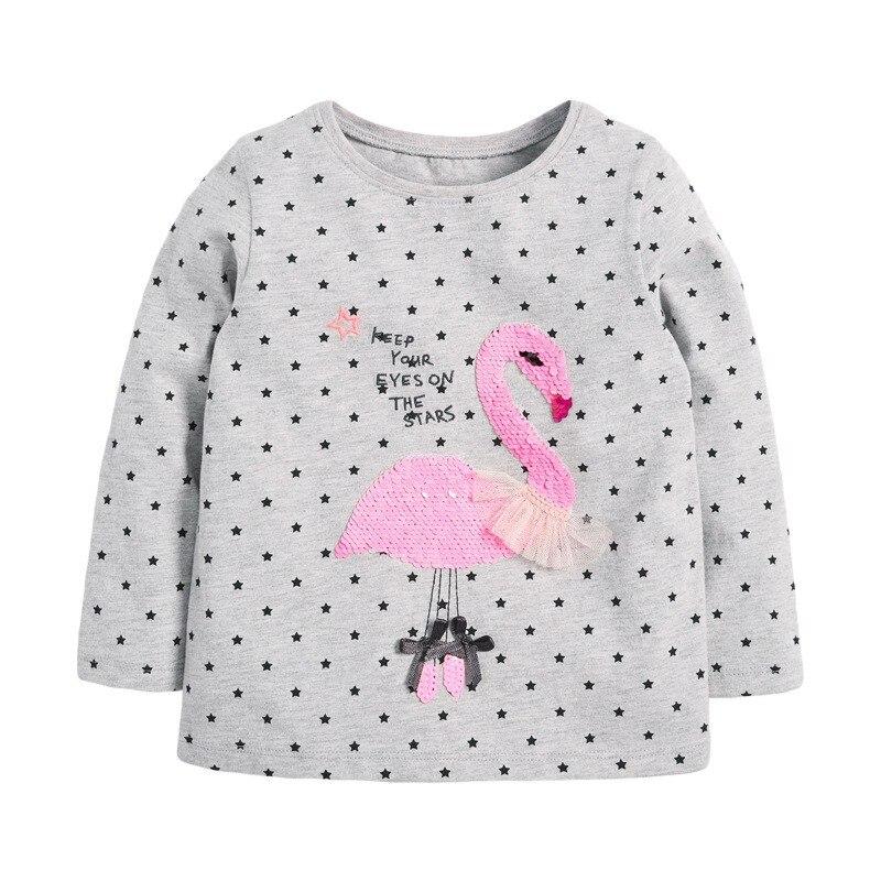 H421ee7de0a7045318fdbbb68d3245362I VIDMID Baby Girls Long Sleeve Casual T-shirts Kids Cotton Floral Cartoon Clothes s Children Girls T-shirts Tees Kids Baby