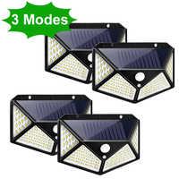 3 modos de led solar luz ao ar livre lâmpada pir sensor de movimento luz de parede à prova dwaterproof água solar powered luz solar para decoração do jardim