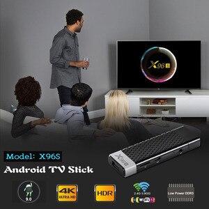 Image 2 - VONTAR TV kutusu X96S X96 sopa 4K TV çubuk mini PC Android 9 4GB 32GB Amlogic S905Y2 dört çekirdekli Wifi BT 1080P H.265 4K 60pfs televizyon kilidi