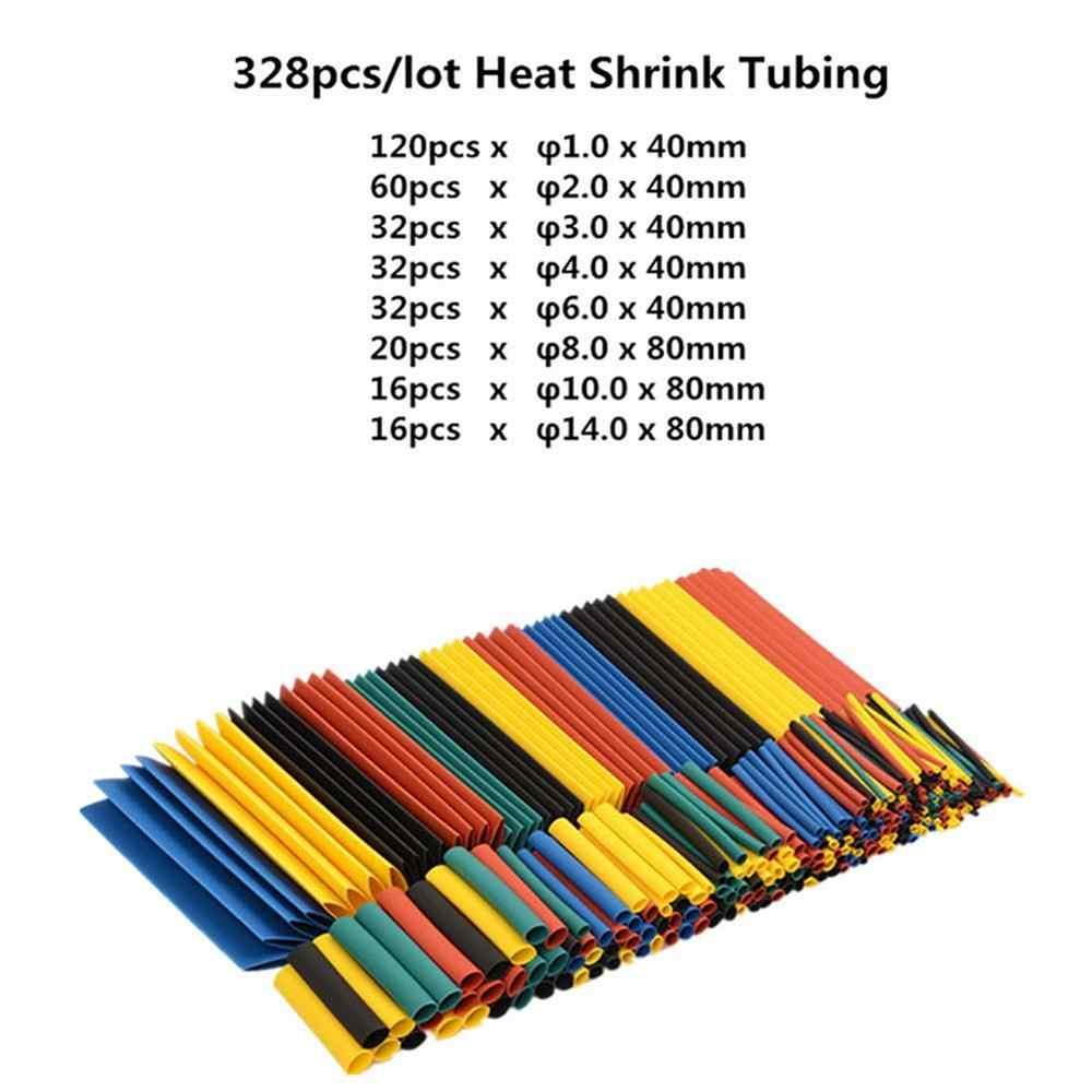 127 adet/328 adet Set poliolefin küçülen çeşitli ısı Shrink hortum kablo kablo yalıtımlı Sleeving boru seti