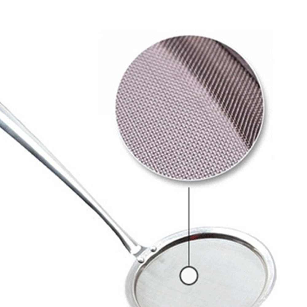 2018 新着シルバーカラーのステンレス鋼メッシュワイヤーオイルスキマーストレーナーキッチン調理ツールドロップ無料