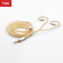 Cable TRN de cobre y plata trenzado híbrido 2,5/3,5mm Cable de equilibrio y conector MMCX/2PIN Trn v80 V20 V10 x6 v30 zst es4