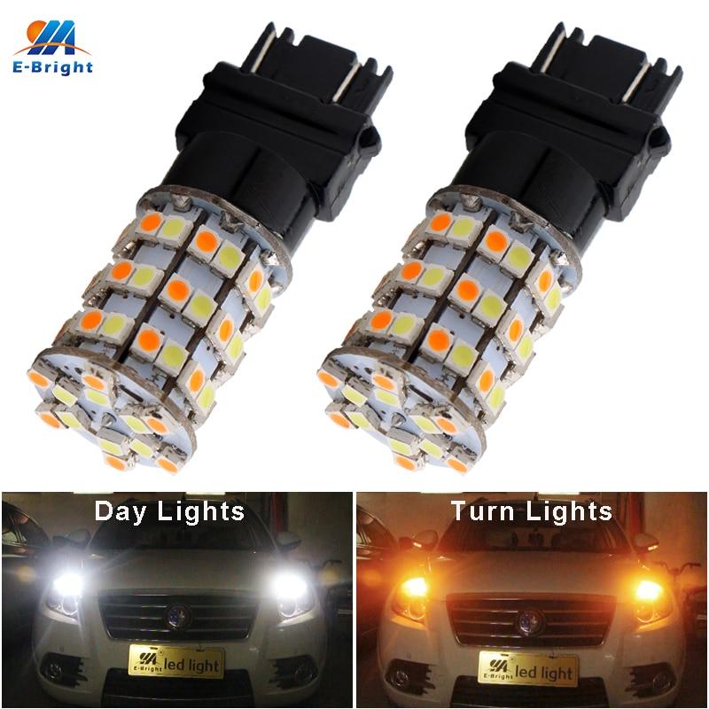 2x 3157 5630 33-Smd LED Car Tail Stop Brake Light DRL Lamp 12V Amber//White//Red