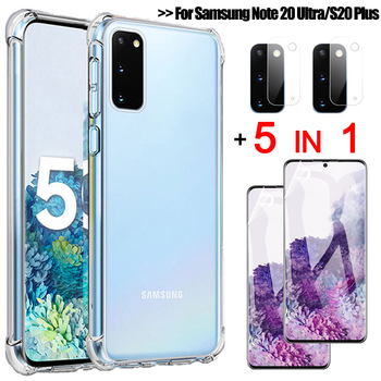 5-in-1, screen protector + phone case for samsung note 20 ultra shockproof silicone cover s20 plus galaxy s 20 ultra case note20