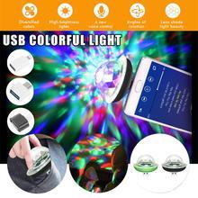 Мини USB светодиодный свет этапа диско портативный семейный праздник магический шар красочный свет бар клуб этап эффект лампа для мобильного телефона