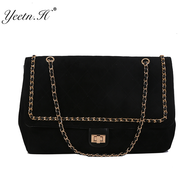Diamond Lattice Chain Bag Woman 2019 Leisure Time Matting Popular Package  Capacity Single Shoulder Package