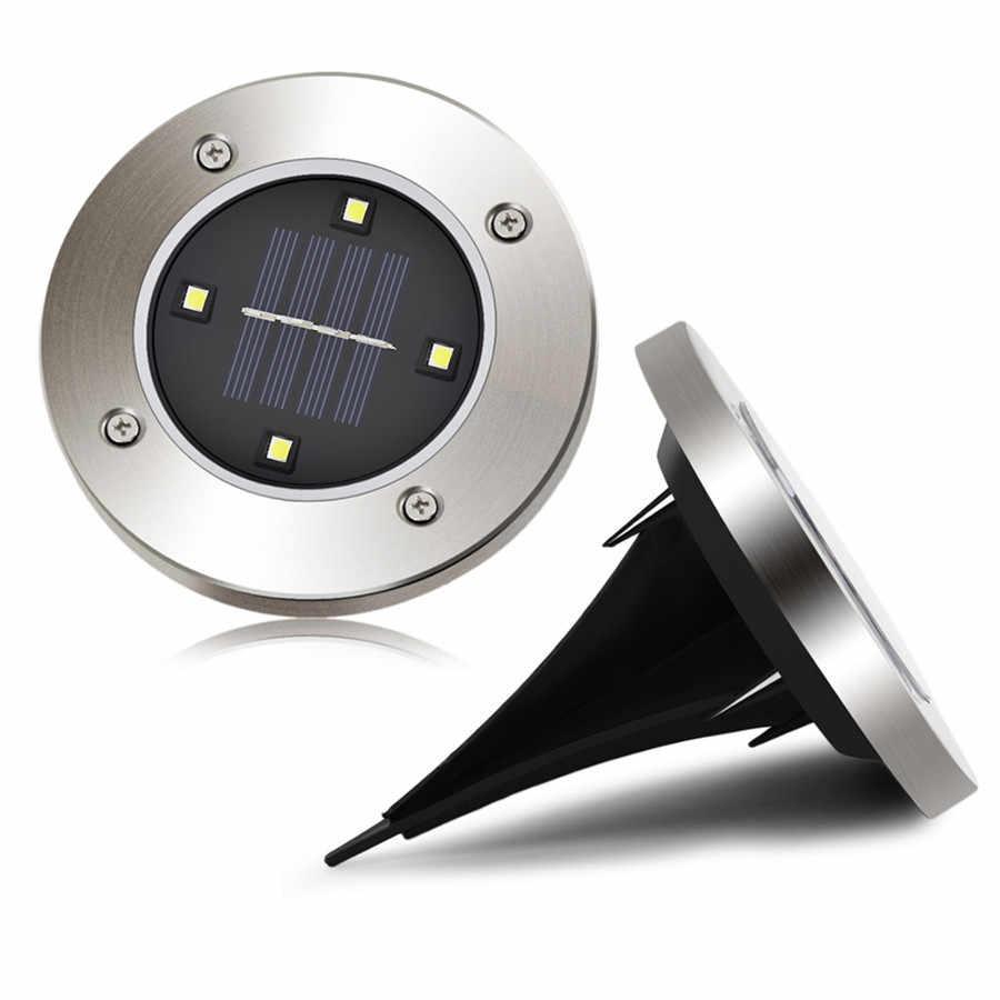 Güneş enerjili zemin aydınlatması su geçirmez bahçe yolu güverte ışıkları 8 LEDs güneş lambası ev Yard Driveway çim yol