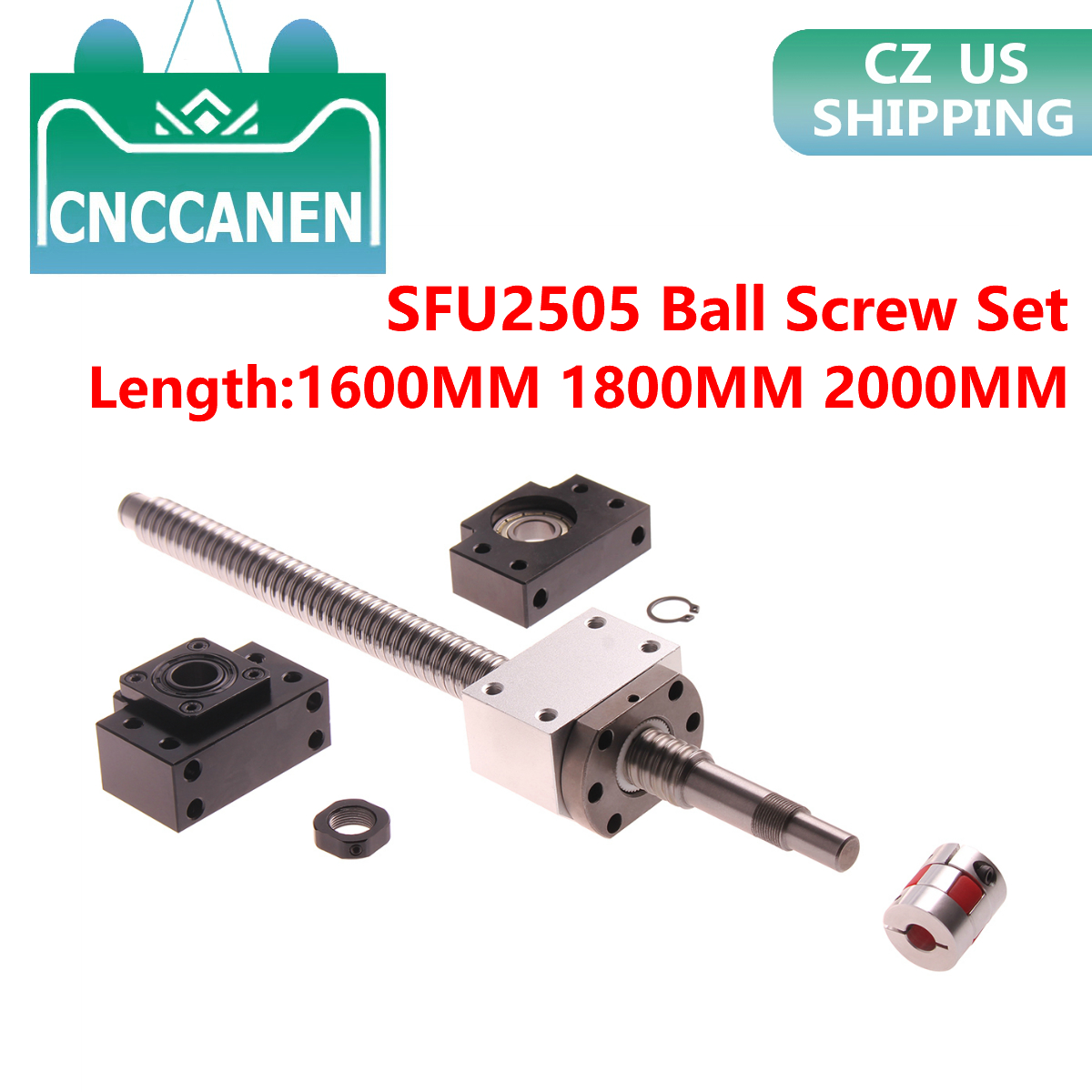 Ball Screw SFU1610 Length 200mm~1500mm Ballscrew End Machined With Ballnut