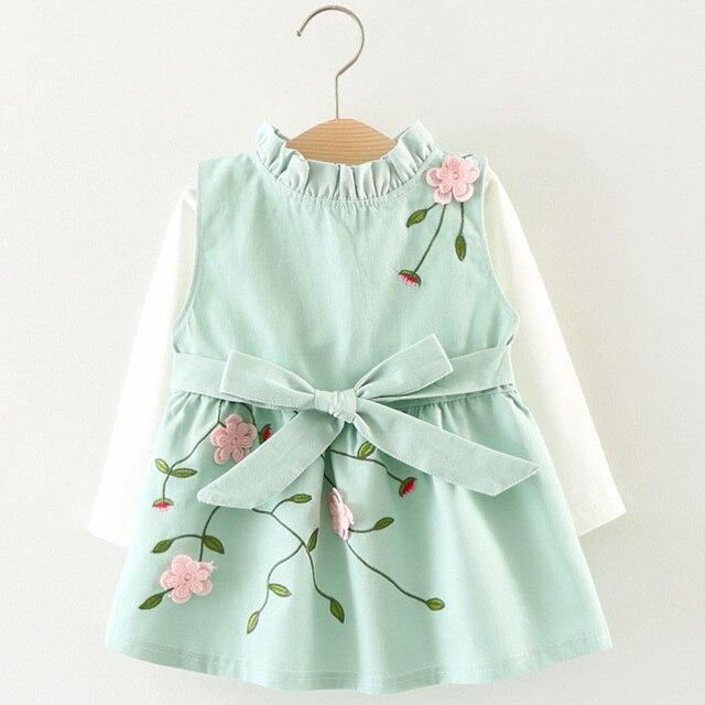 Melario, vestido para niñas pequeñas, otoño 2020, vestido bonito de malla con lazo para recién nacidos, vestidos de princesa de manga larga para niñas, vestido para niños pequeños