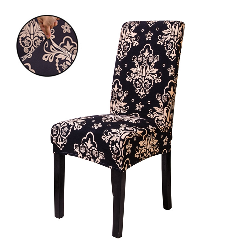 1PCs Spandex Elastic Printing Dining Chair Slipcover Removable Anti-dirty Kitchen Seat Case Stretch Chair Cover For Banquet