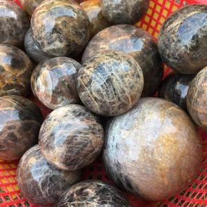 Image 5 - Nero naturale pietra di luna quarzo sfera minerale cristalli pietre preziose sfera reiki guarigione fine decorazione della casa