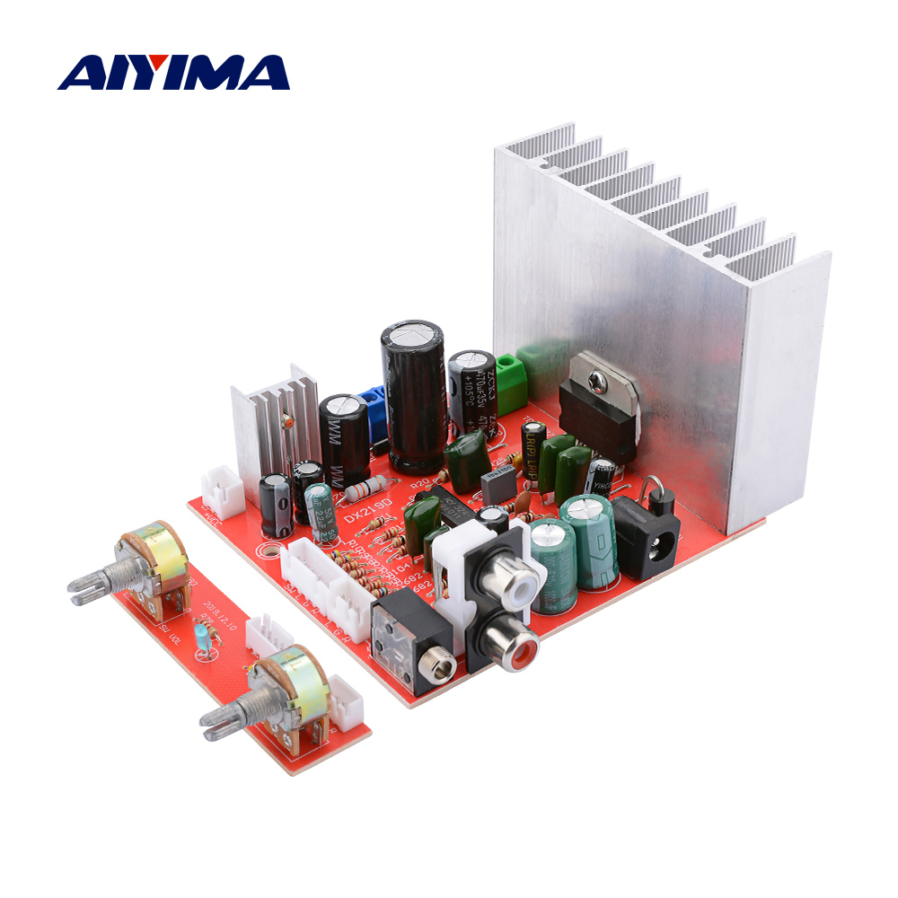 AIYIMA 2.1 TDA7377 Subwoofer Amplifier 38Wx3 Hifi Stereo Power Audio Amplifier DIY Amplificador Home Theater DC12V/AC12V