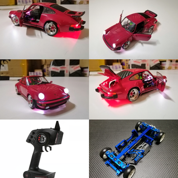 High Quality New Metal MINI-Q8 with Alloy Porsche Car Shell Light Set RTR Version RC Car Toys image