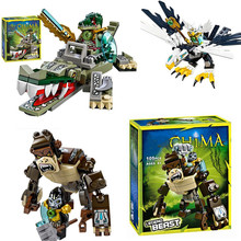 цена на Super Heroes Figures Building Blocks Weapon Qigong legoe Animal Model Bricks Compatible with Toys For Children