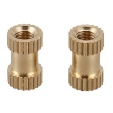 100 шт M3x8mm круглые металлические бесконечные винтовые вставки в кости латунный тон