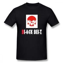 Jiu Jitsu Skull With Black Belt t shirt men Casual Fashion Men's Basic Short Sleeve T-Shirt boy girl hip hop t-shirt top tees