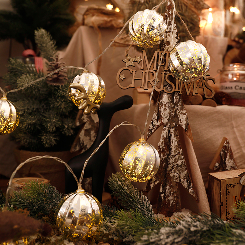 Christmas Store Interior Decoration Shopping Mall Supermarket Activity Scene Layout Christmas Tree Ball Creative Props Pendant
