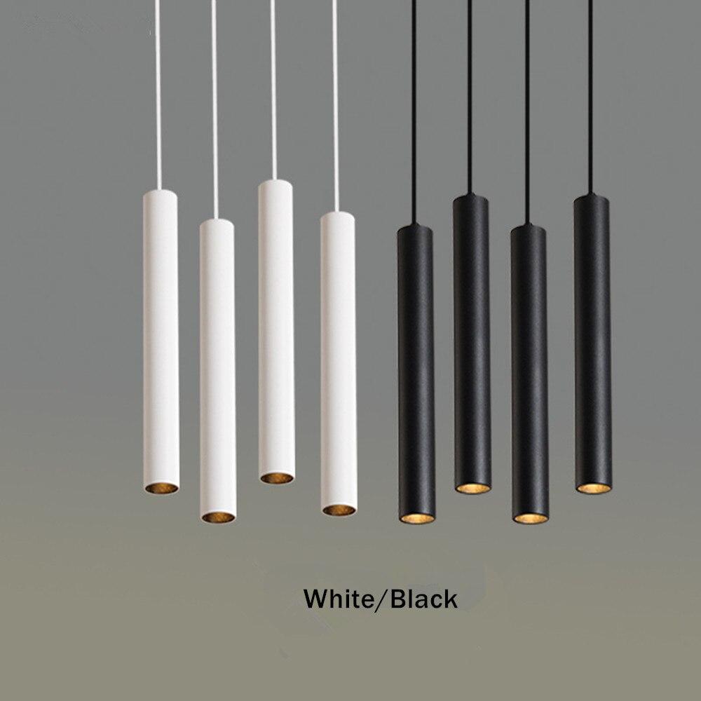 Simple led Pendant Light Long Tube lamp Modern Kitchen Lamp Dining Room Bar Counter Shop hang lamp Cylinder Pipe Pendant Lights
