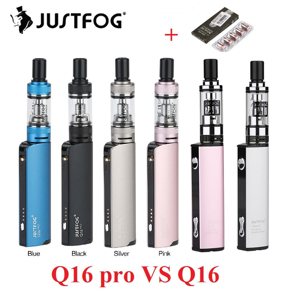 Hot!!! Original JUSTFOG Q16 & JUSTFOG Q16 Pro Starter Kit Wi/ 900mAh Battery 1.9ml Tank Electronic Cigarette Vape Kit Vs MINIFIT