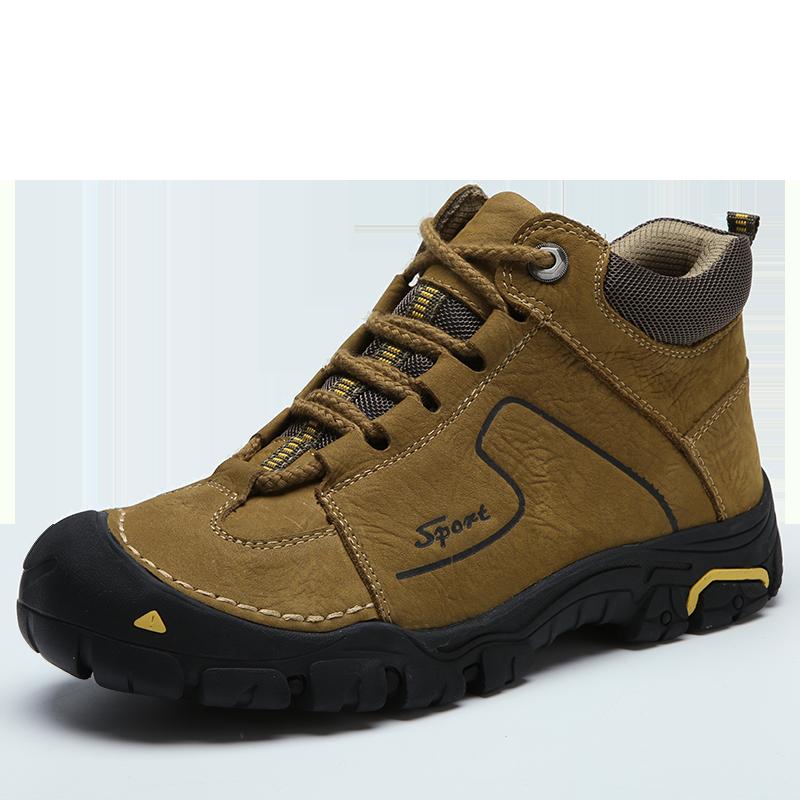 Marke Outdoor Schuhe Aus Echtem Leder Trekking Wandern Schuhe Männer Wasserdichte Wanderschuhe Winter Turnschuhe Bergsteigen Schuhe