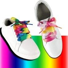 1 Pair Silk Ribbon Shoe laces Flat Satin Shoelaces 2CM Width Boots Women Sneakers ShoeLace Length 80CM 100CM 120CM 22 Colors